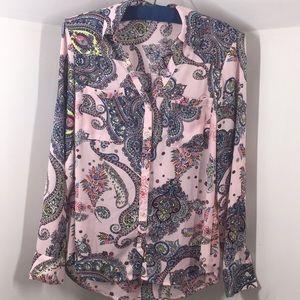 Express portofino shirt pink paisley